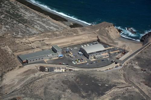 A desalination plant in Granadilla in Tenerife