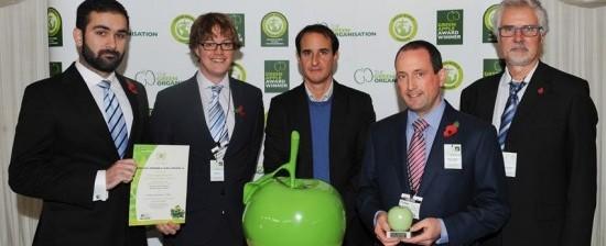 Green Apple Gold award for Ferrovial Agroman