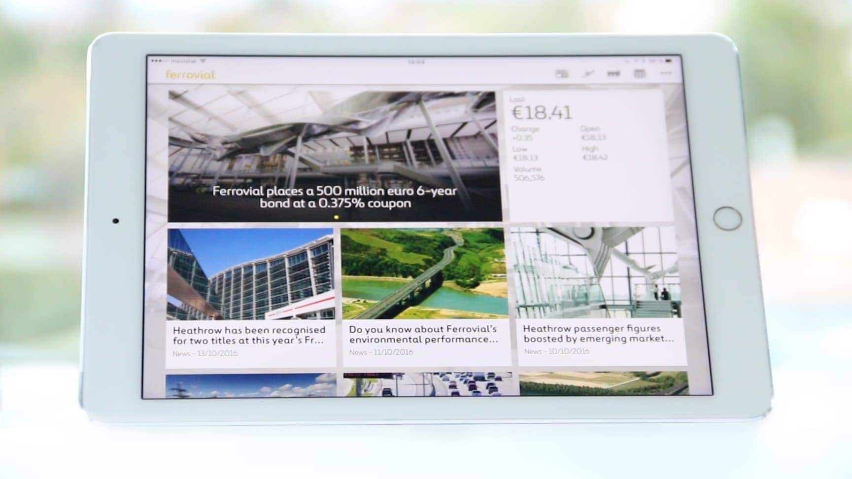 All the latest news Download the Ferrovial App!