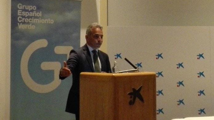Valentin Alfaya at the Spanish Green Growth Group's Sustainable Growth forum