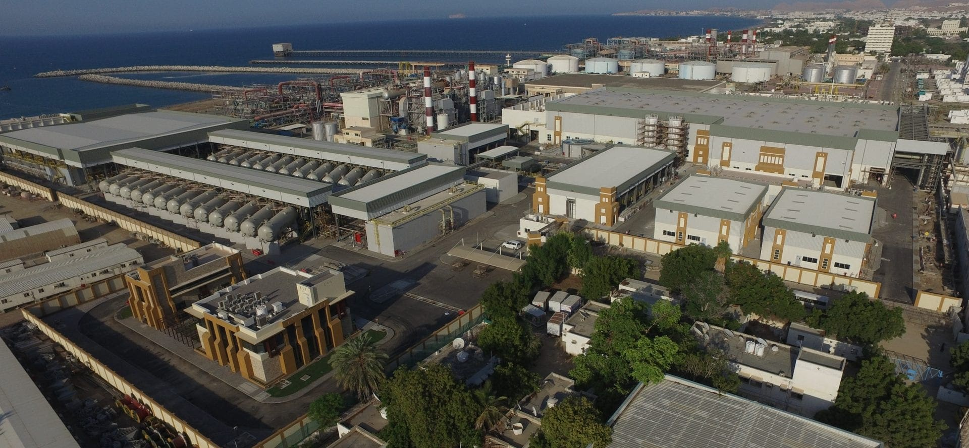The Al Ghubrah desalination plant in Oman