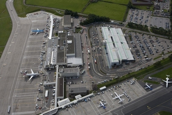 View of Aberdeen airport as seen from the sky