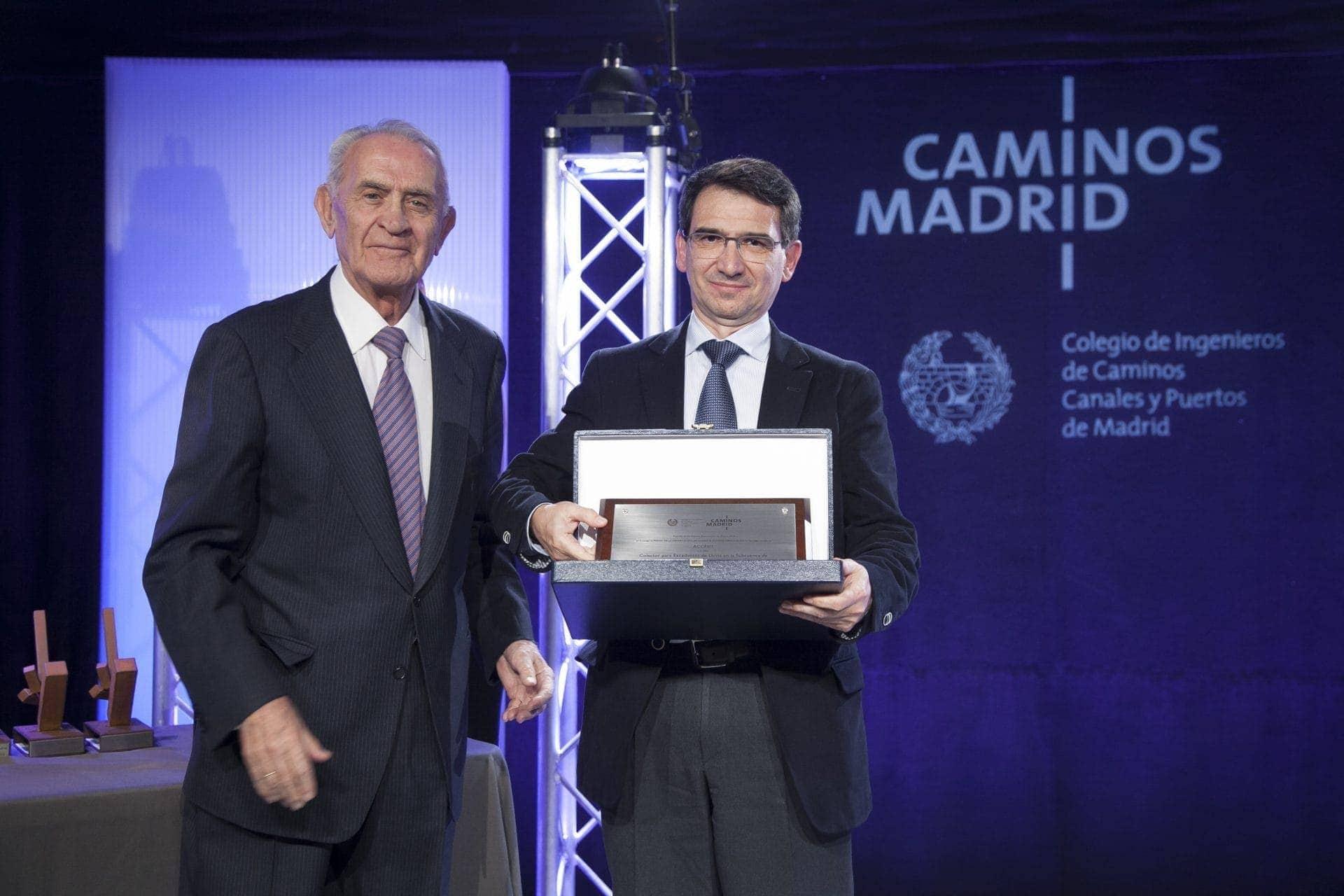 Ferrovial Agroman ganadora de dos galardones en los Premios de la Demarcación