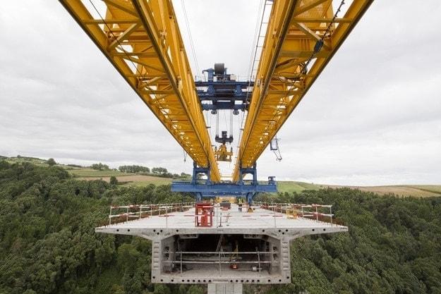 construccion de Ferrovial del viaducto San Miguel de Azores