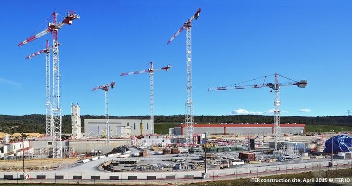 ITER construction site, April 2015 © ITER IO