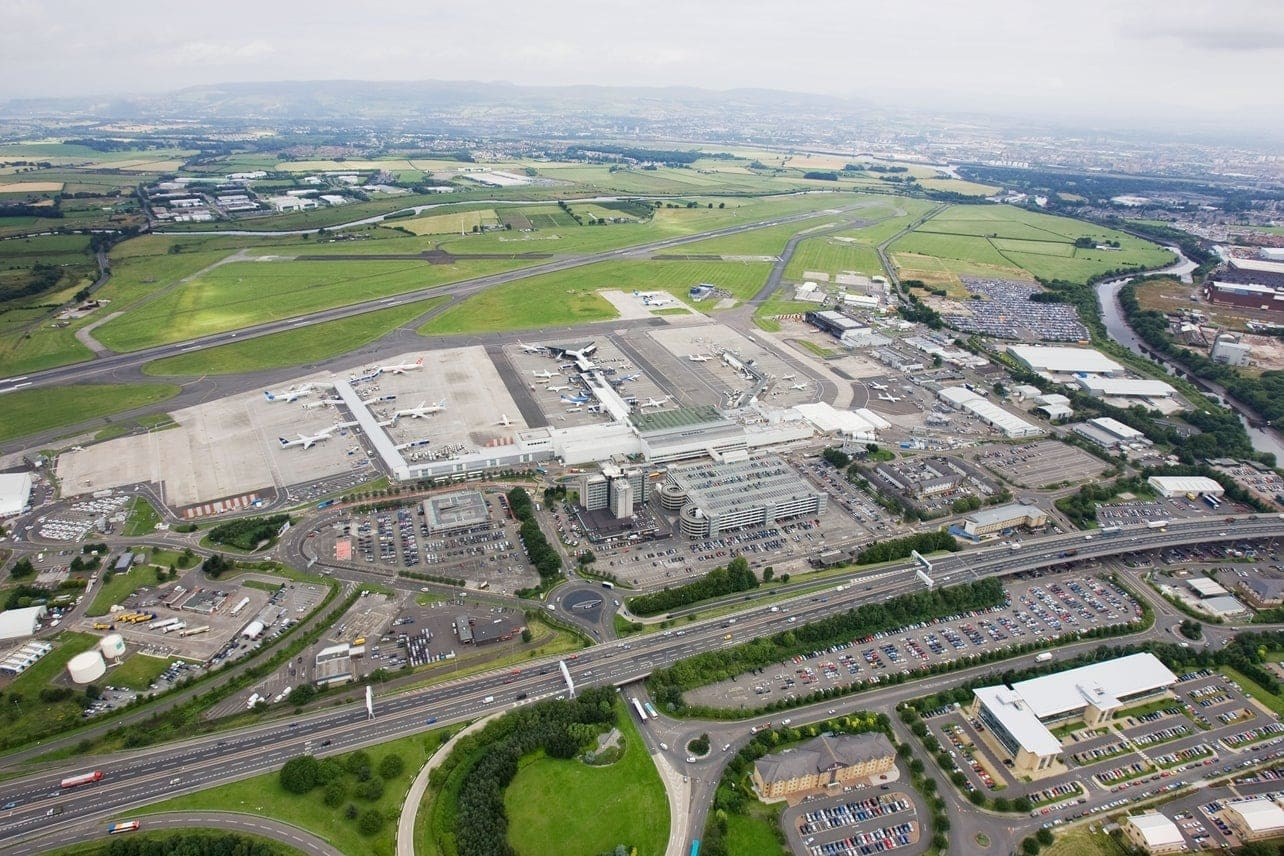 Aerial View of Glasgow Airport