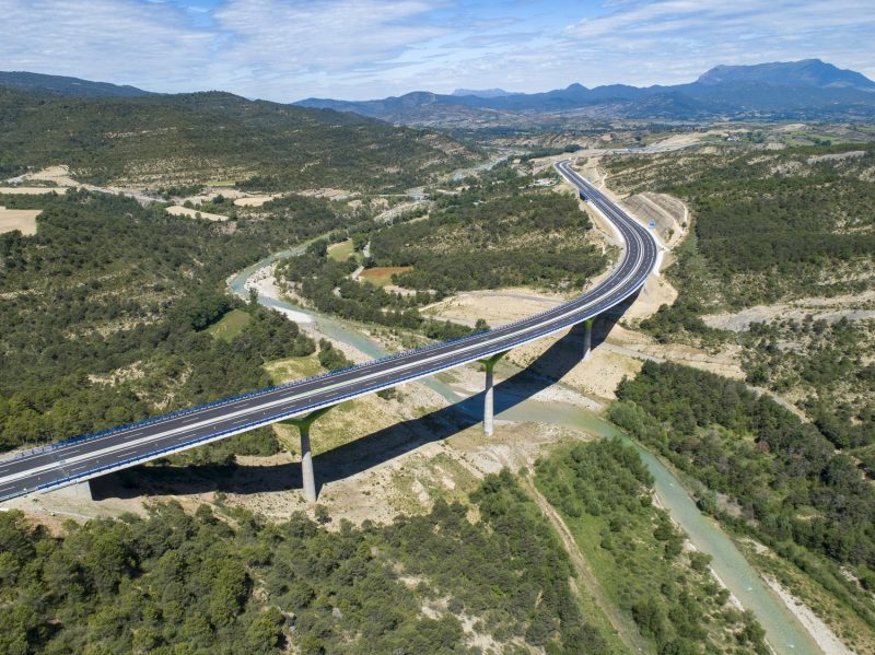 Lanave-Caldearenas section of Highway in Spain