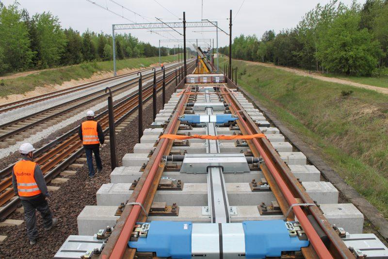 Construcción de la estación de Olszamowice en Polonia