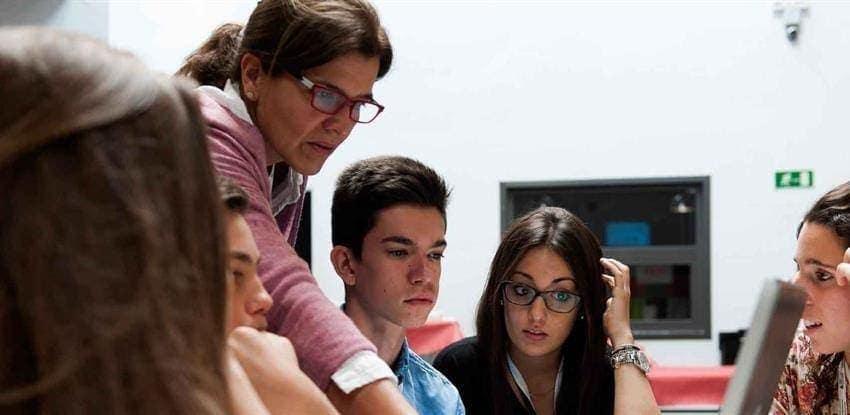 Teacher in classroom for Orienta T programme