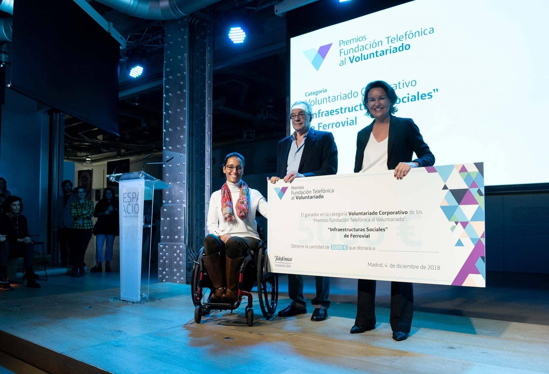 Cheque Premio Infraestructuras Sociales