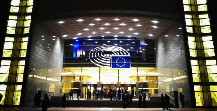 Entrada al edificio debate Horizon Europe