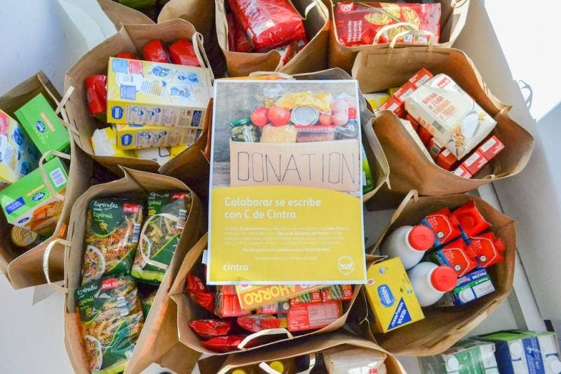 Cintra employees donate more than a ton of food