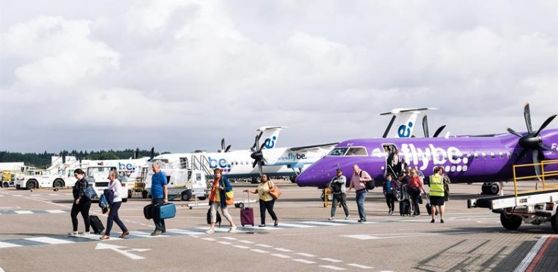 Southampton Airport with passengers