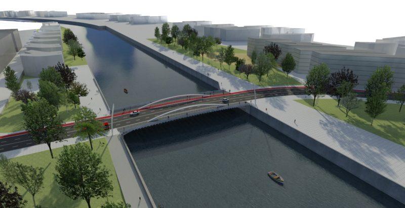 Infografia-maqueta Puente San Ignacio Zorrotzaurre