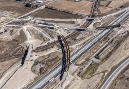 aerial view of 407 East construction