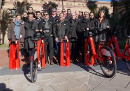 people. Everything's ready for the installation of a new shared bicycle service in Barcelona