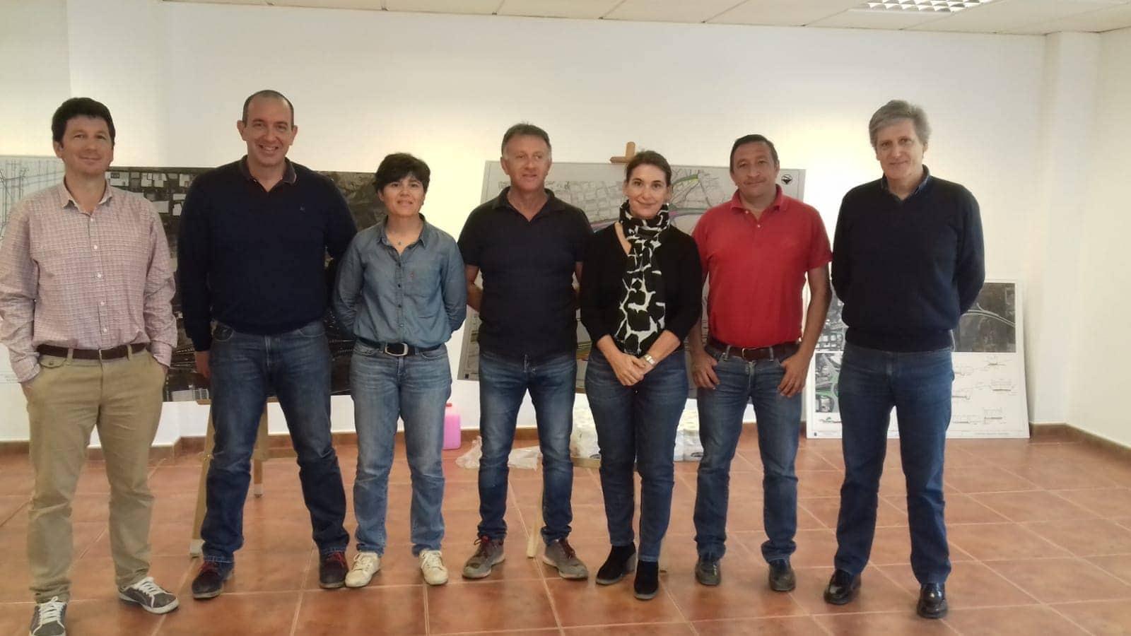 equipo obra conexión entre Oroteanda y Las Chafiras, Tenerife