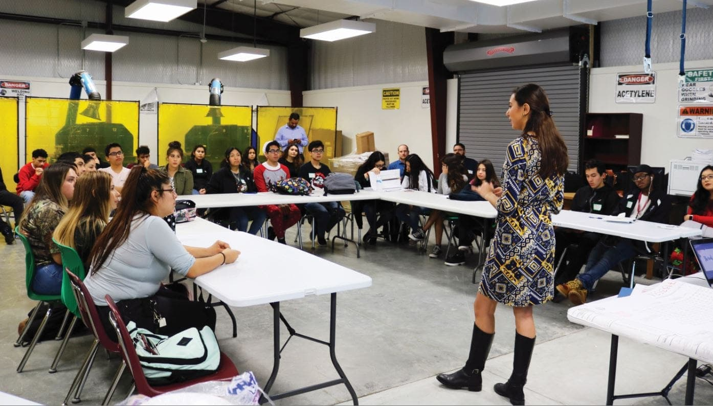 Gabby shared her story with more than 30 students