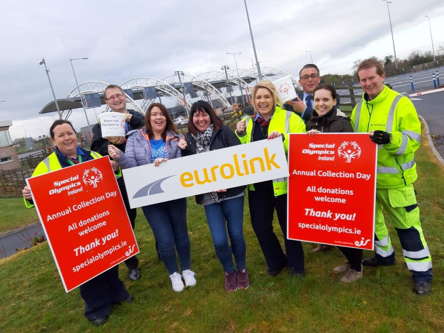 """Las autopistas irlandesas Eurolink M3 y M4 participaron en el """"Annual Special Olympics Collection Day"""""""