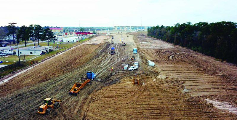 Continúan las obras del proyecto de la autopista SH 99 Grand Parkway cerca de Houston
