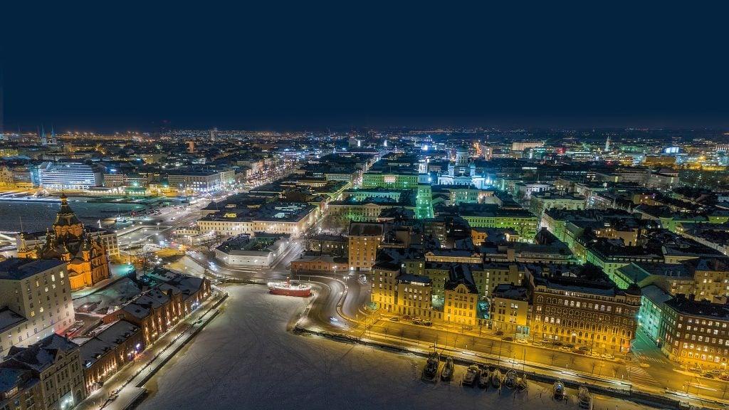 Vista aérea de Helsinki