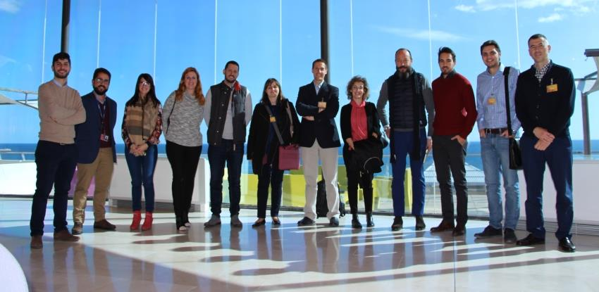Group image of the Innovation Department of Ferrovial Services Spain and the Galician startup Situm