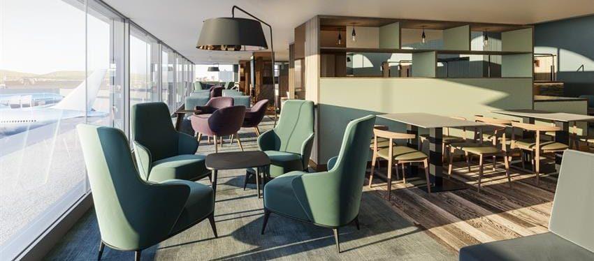 Imagen del nuevo Lomond Lounge del aeropuerto de Glasgow