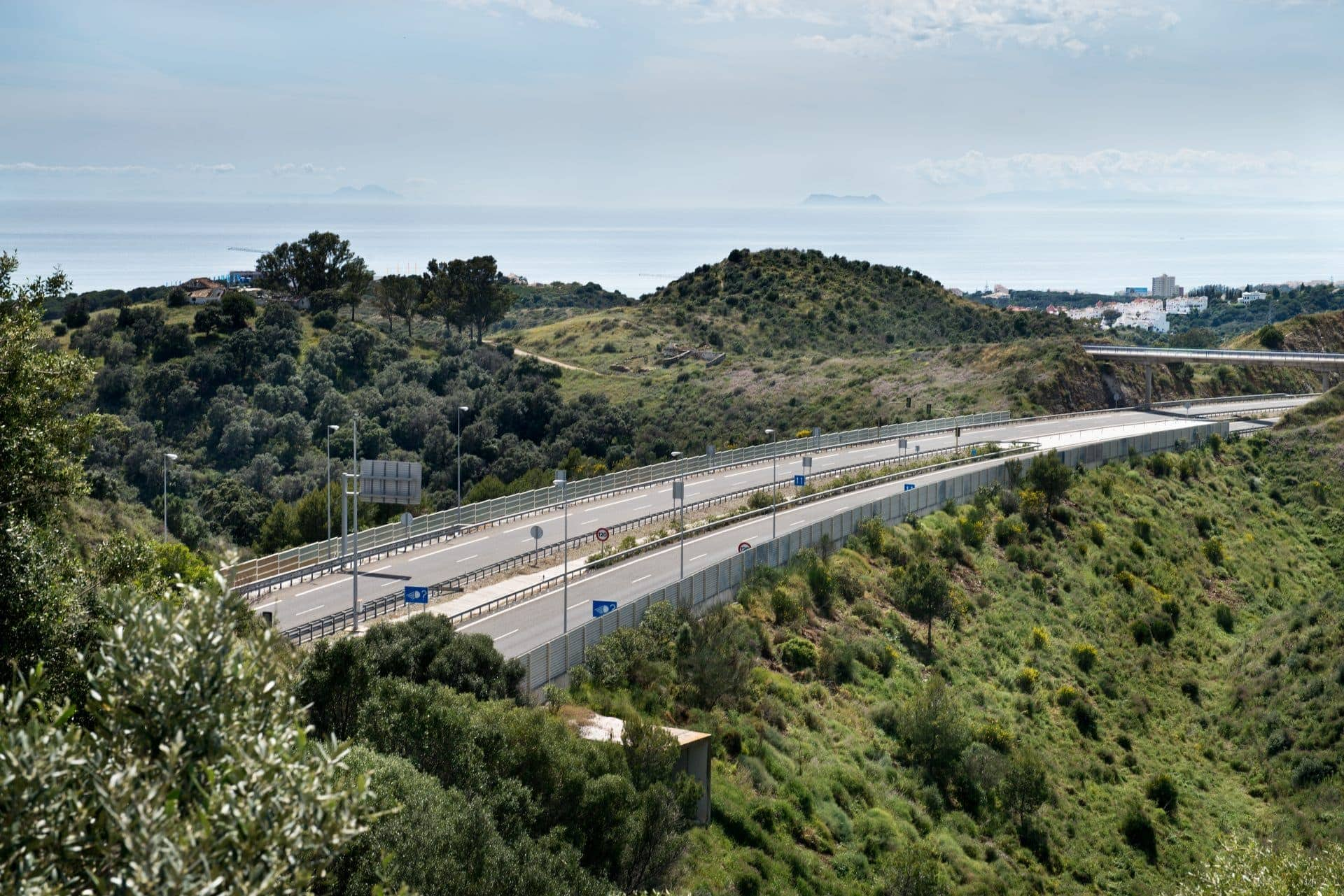 Road built by Ferrovial under the parameters of the fight against climate change
