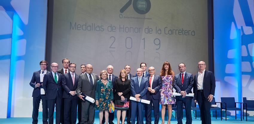 Foto de grupo de galardonados en el acto
