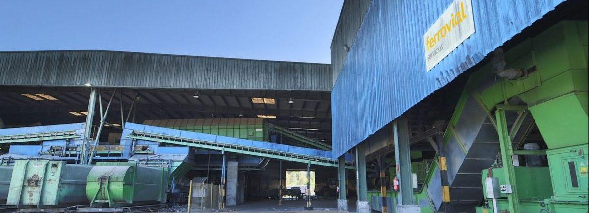 Photo of the sludge drying plant