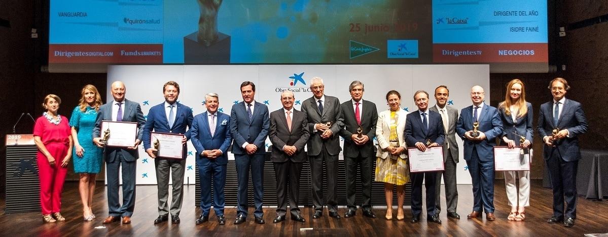 Cristina Moral, gerente de Responsabilidad Corporativa de Ferrovial, ha recogido el Premio Dirigentes 2019 en la categoría de Sostenibilidad.