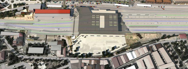 Imagen del proyecto de soterramiento de vias en Murcia
