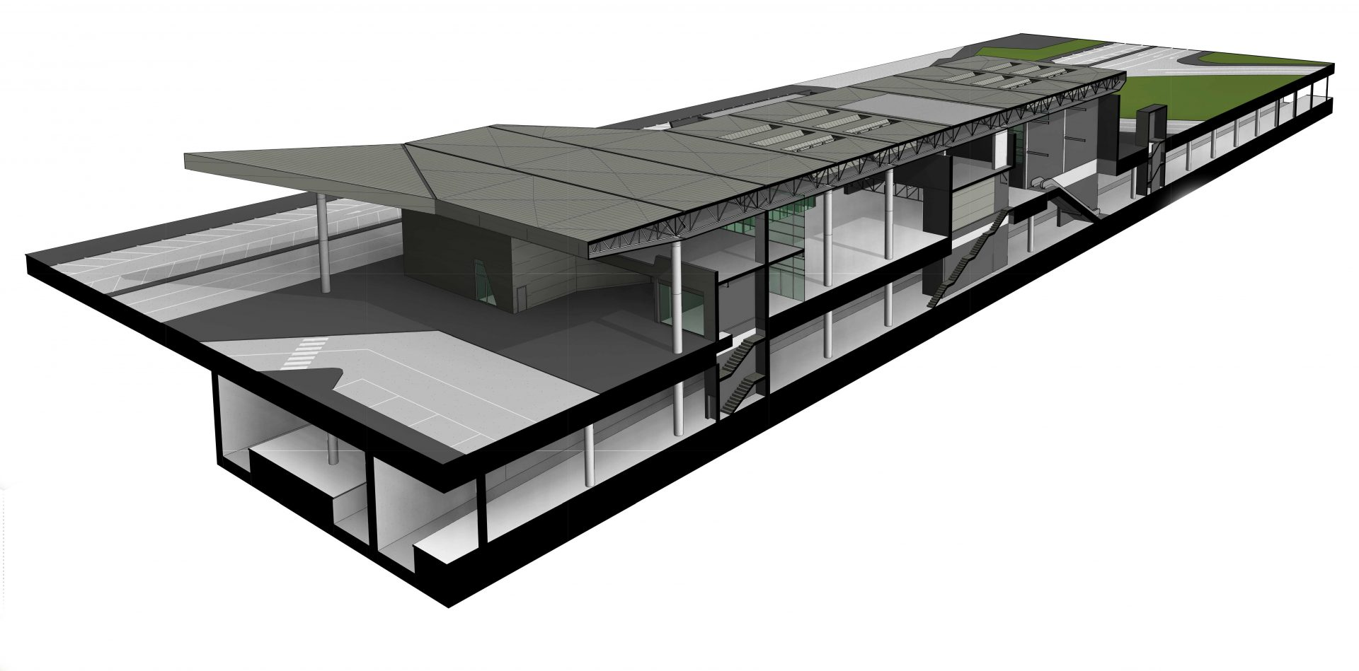 Imagen del proyecto de una estacion de tren