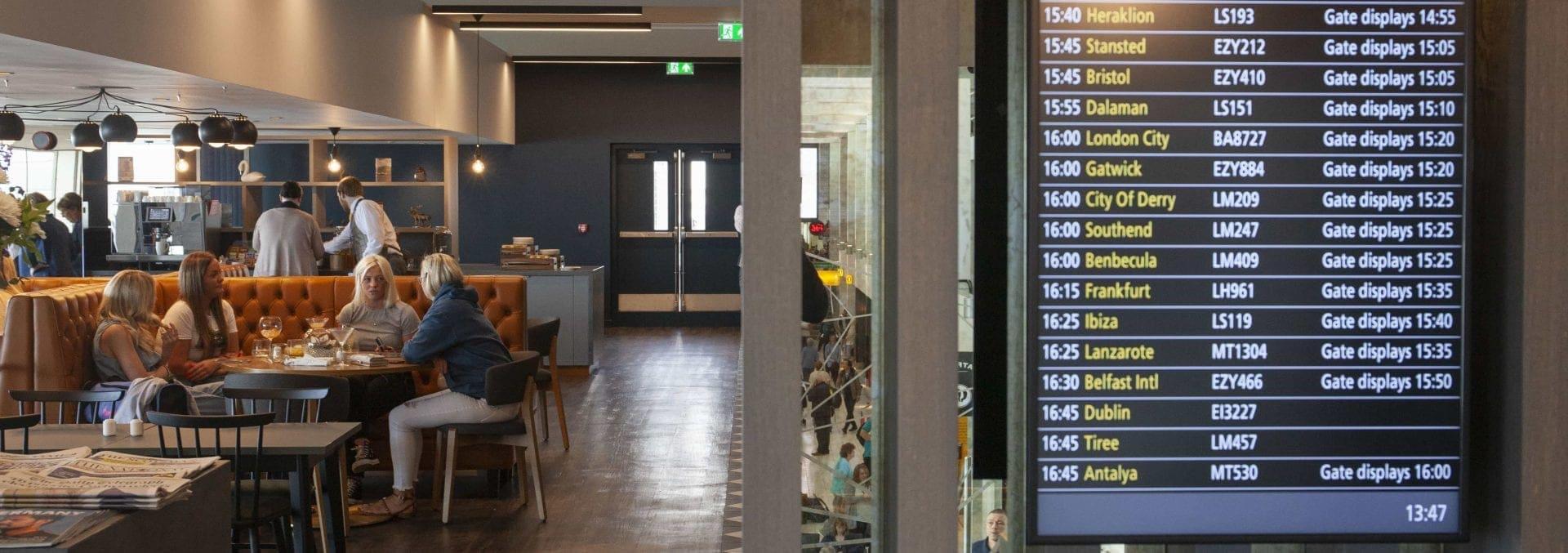 Imagen del Lomond Lounge del aeropuerto de Glasgow