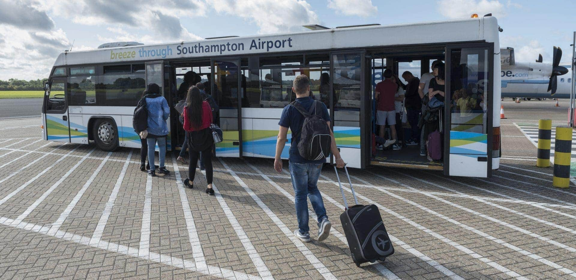 image of a passenger bus at southampton airport