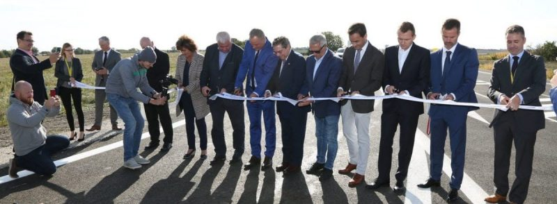 Imagen de la inauguraciónde la circunvalación construida por Ferrovial Agroman