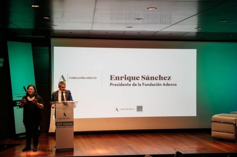 Imagen de la ponencia del presidente de la Fundación Adecco en el acto #CEOPorLaDiversidad