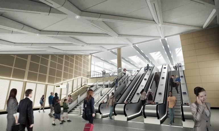 Imagen del interior de la estación de Farringdon
