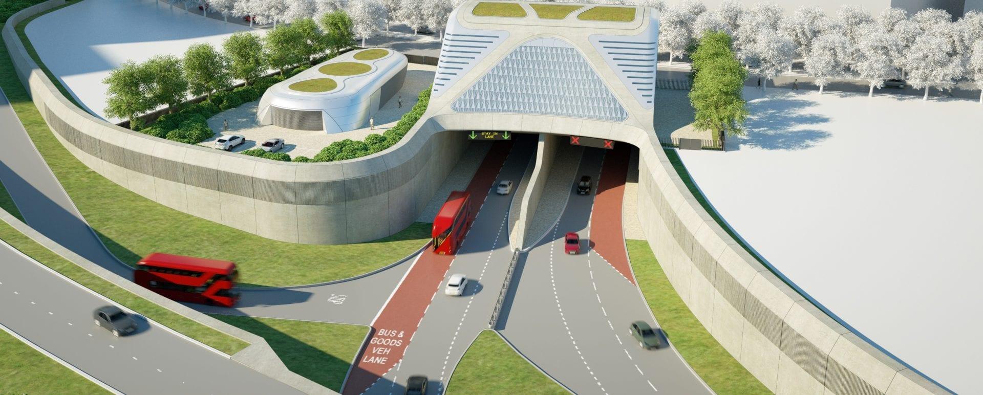 Silvertown tunnel entrance