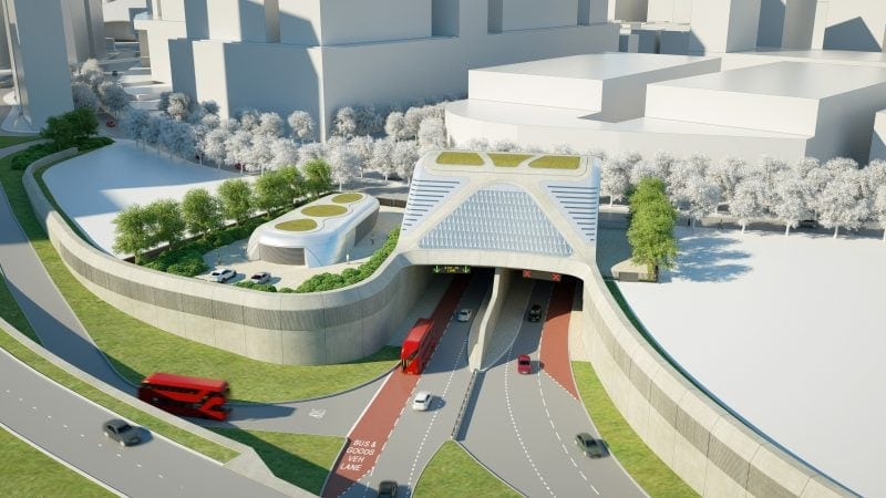 Silvertown tunnel entrance