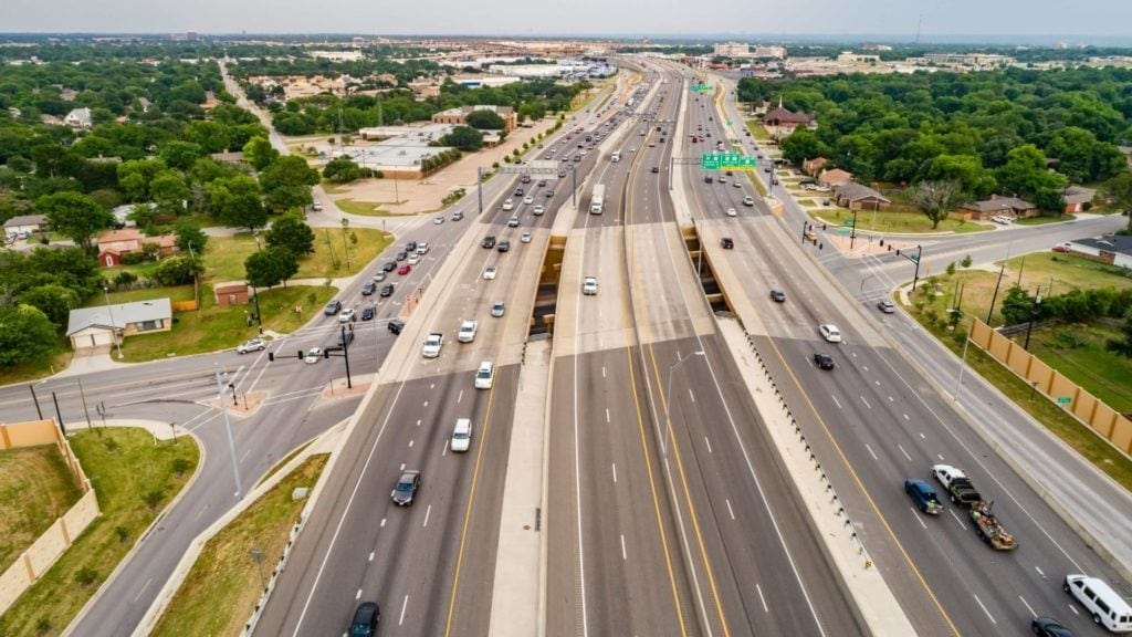 Aerial image of the North Tarrant Express Highway