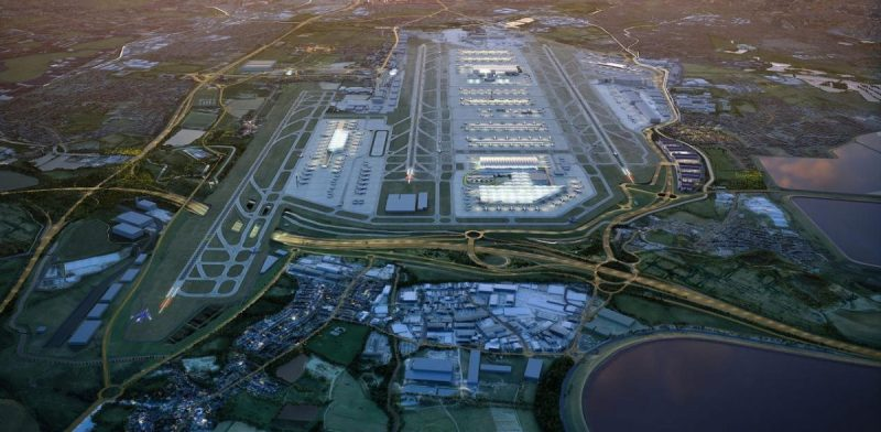 aerial image of Heathrow airport