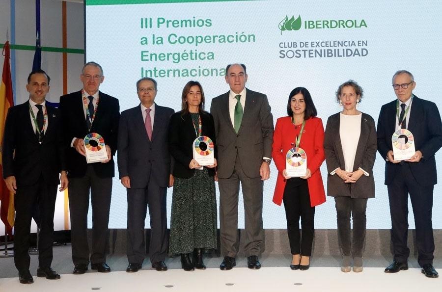 Imagen de los galardonados en los premios Iberdrola 2019