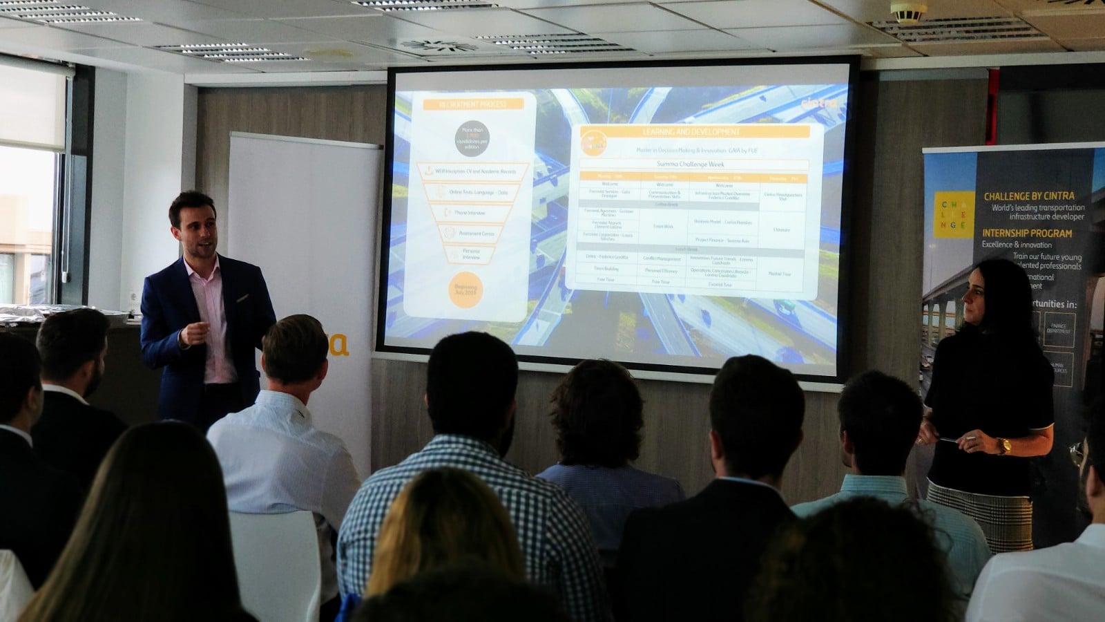 los estudiantes del Máster en Ingeniería de Caminos, Canales y Puertos de la Universidad Politécnica de Madrid