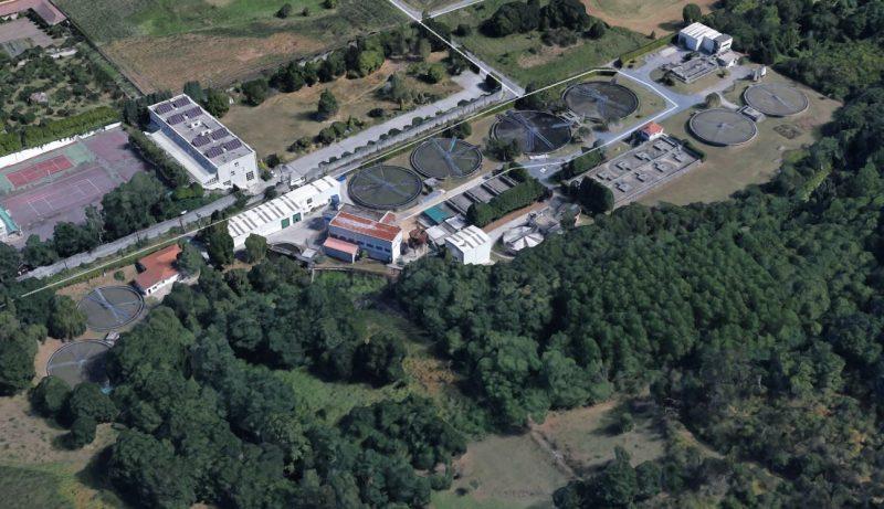 Imagen aérea de la EDAR de Silvouta