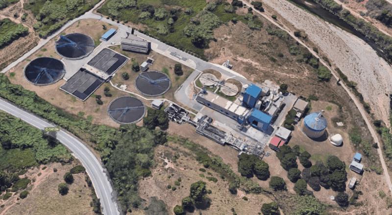 Imagen aerea de la EDAR de Rubí