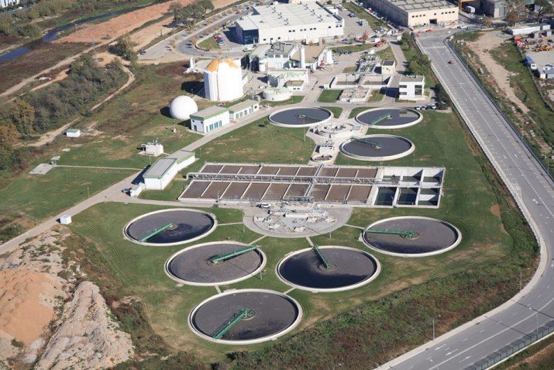 Aerial image of a Cadagua plant