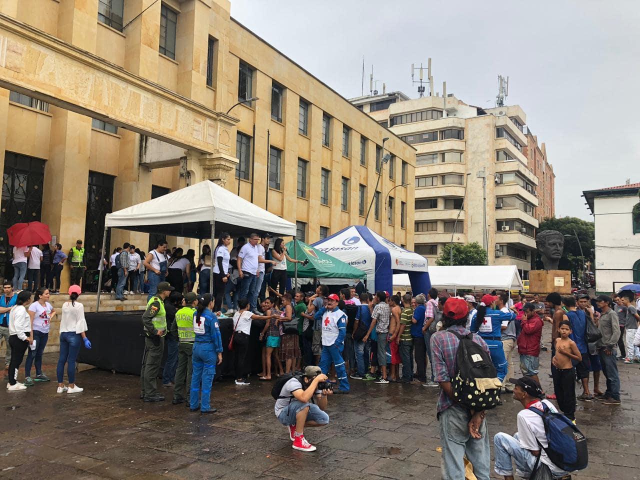los voluntarios atendieron a un total de 154 habitantes (14 mujeres, 17 niños y 123 hombres) que recibieron asistencia