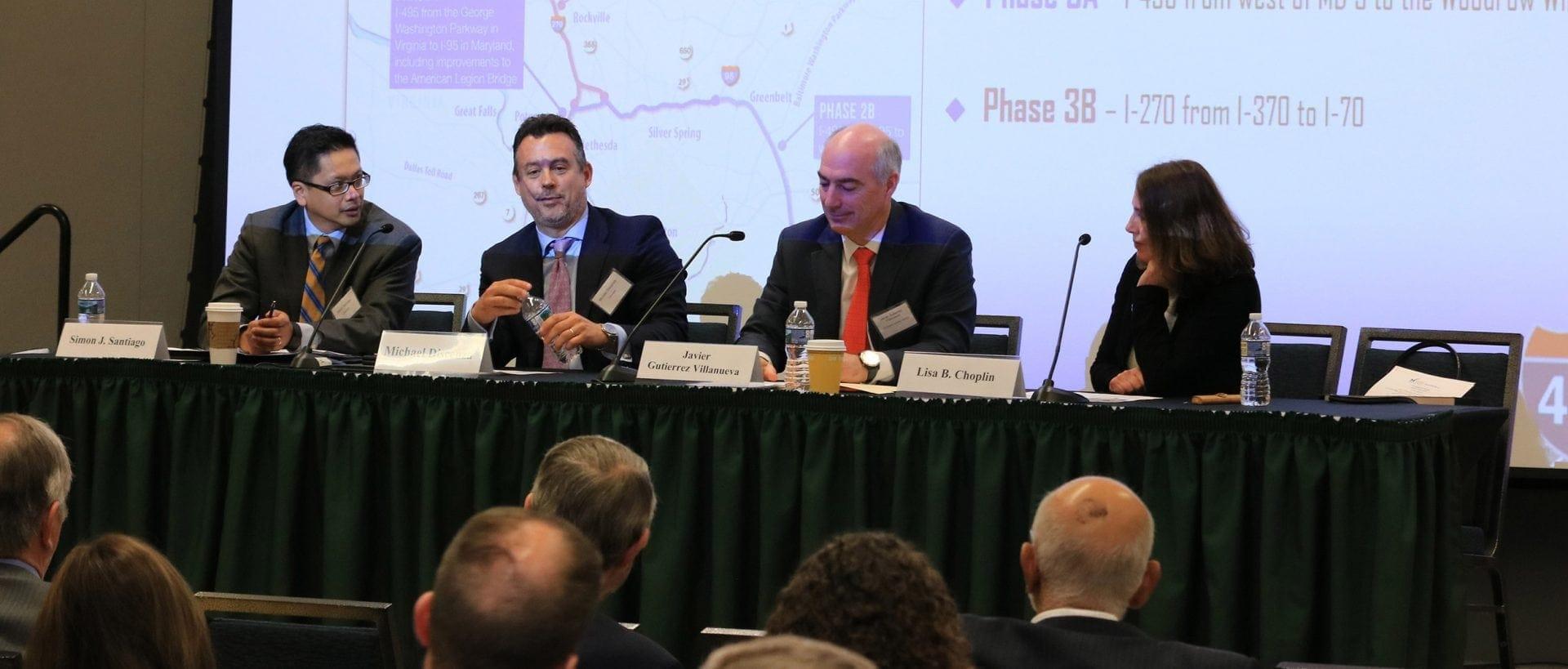 Javier Gutiérrez, CEO Javier Gutiérrez, I-66 highway CEO, participated in a panel on Regional Highway Programs