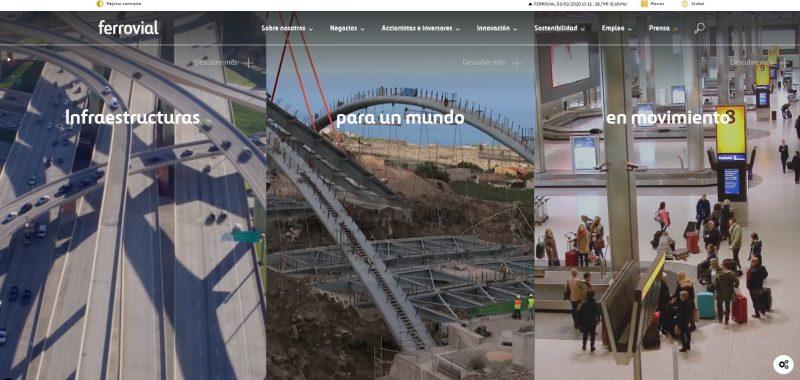 cabecera web ferrovial